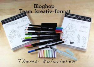 Stampin'up!, kolorieren, Bloghop , Team kreativ-format, Wassertankpinsel, Watercolor pencils, Farbenfroh durchs Jahr
