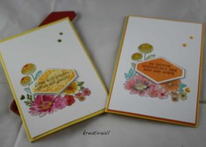 Blumiges Etikett, # stampin`Up!