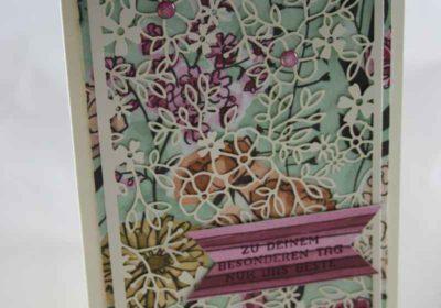 """Elegante Geburtstagskarte mit Stampin Up"""" Produkten gewerkelt"""