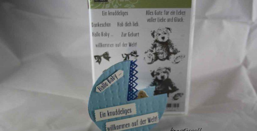 Unentbärliche Grüße , eine Babykarte für einen Jungen, #stampin`Up!