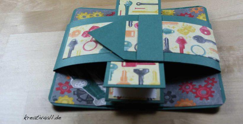 Mit Gürtel-ummantelte Leporello-Karte mit Stampin´Up! Produkten