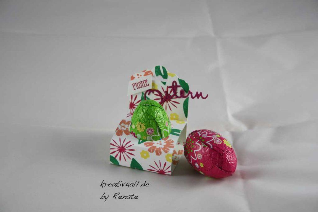 Goodie-Verpackung für ein großes Ei für Ostern