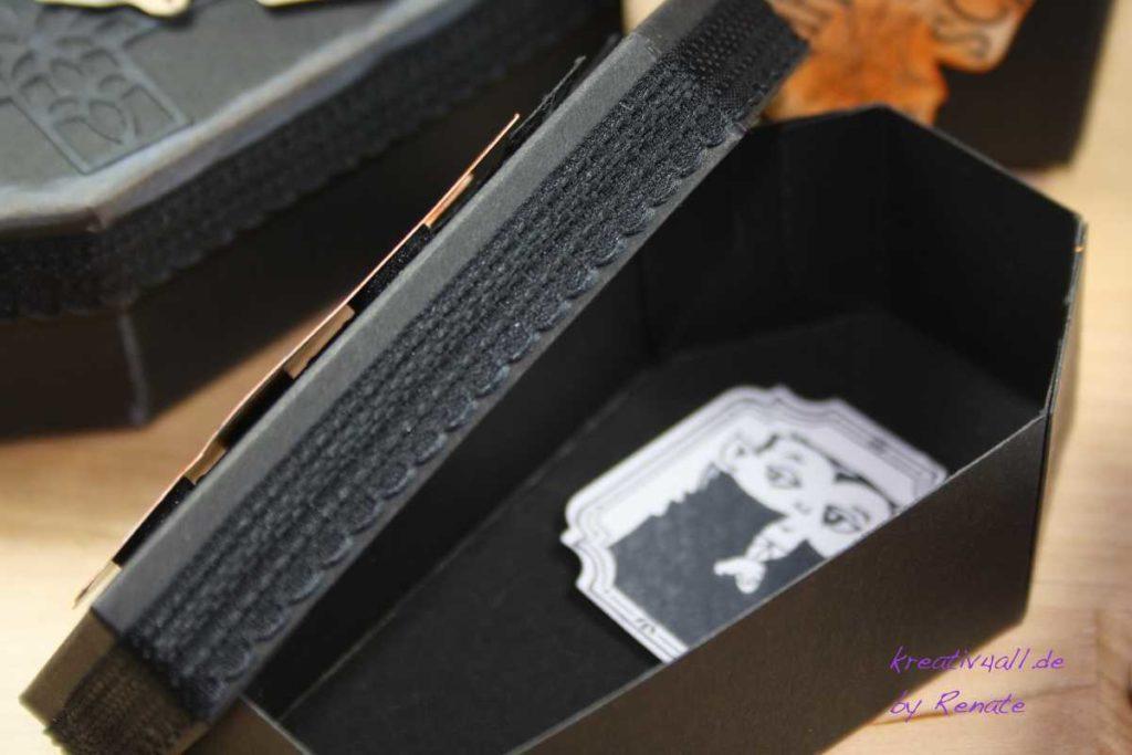 Papiersarg von Stampin´Up! mit dem Stempelabdruck vom kleinen Vampir, Halloween-Reihe, Tag 5