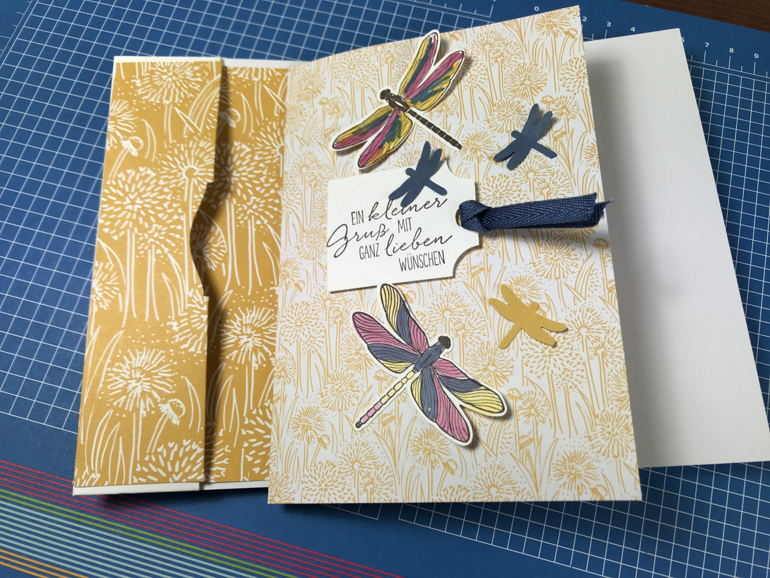 Libellen und Löwenzahnkarte